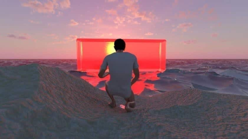 Bassam Al-Sabah, I Am Error, Still from upcoming CGI film, 2020. Courtesy the artist.