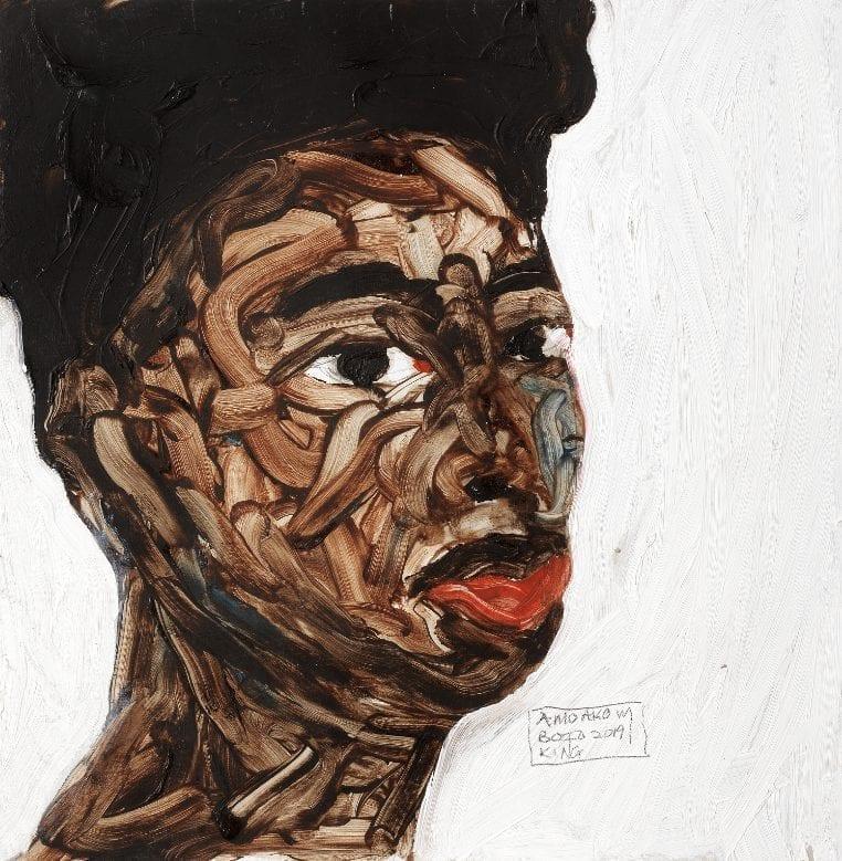 Amoako Boafo (Ghanaian, born 1984), Portrait. Estimate: £15,000 - 20,000
