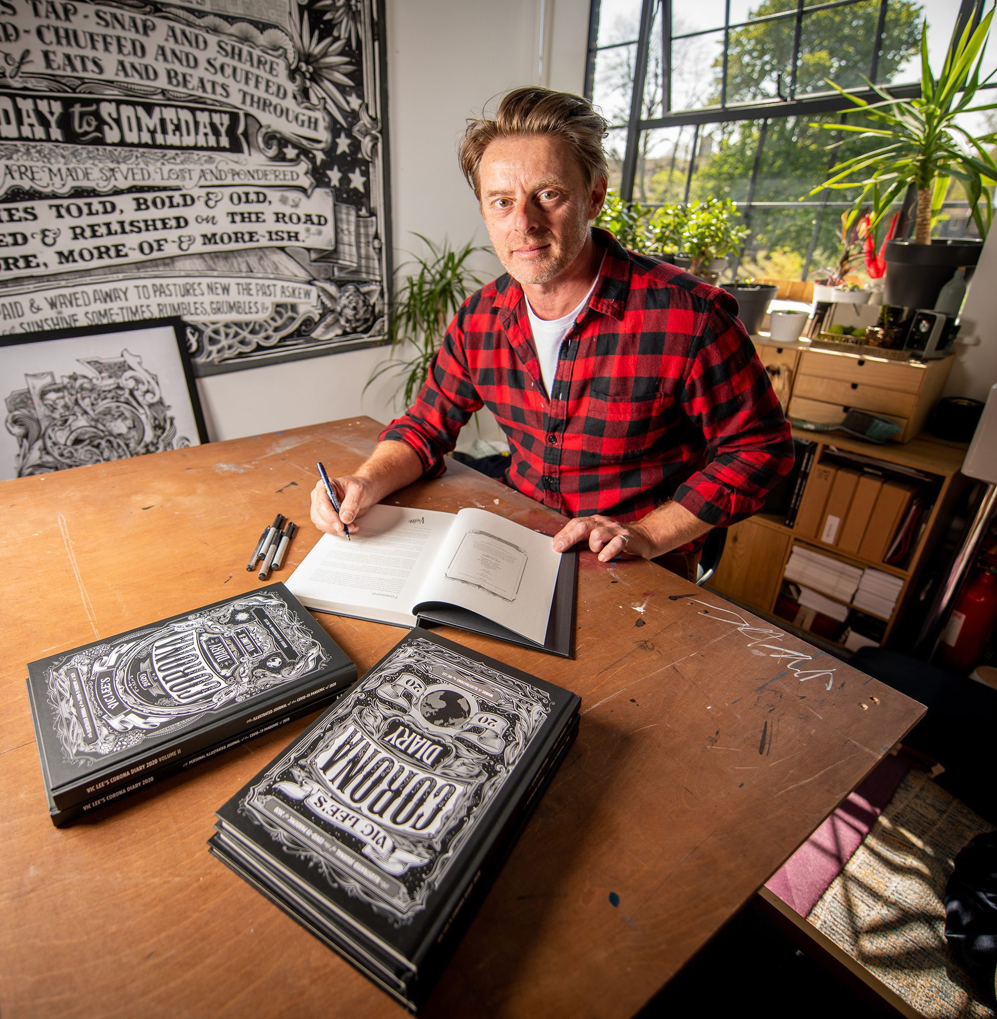 London artist's compelling Corona diary compared to the work of Samuel Pepys goes global